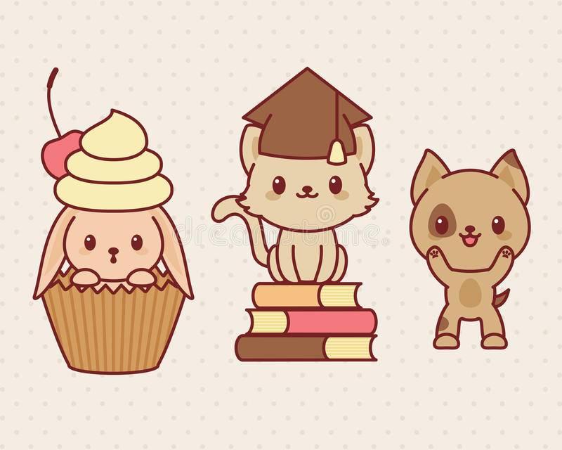 Conejito Kawaii y otros animales kawaii