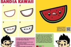 comida kawaii facil con sandia