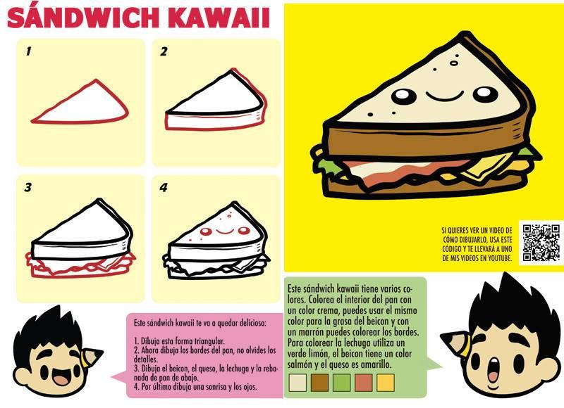 comida kawaii para dibujar