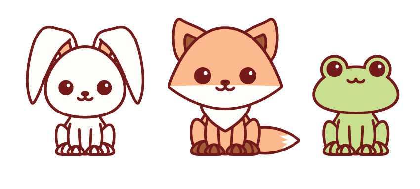 Animales del bosque Kawaii dibujosfaciles.es