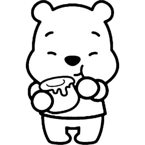 Winnie de pooh con su miel