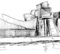 dibujo museo guggenheim