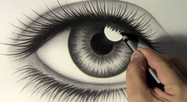 Ojo a lápiz dibujos fáciles