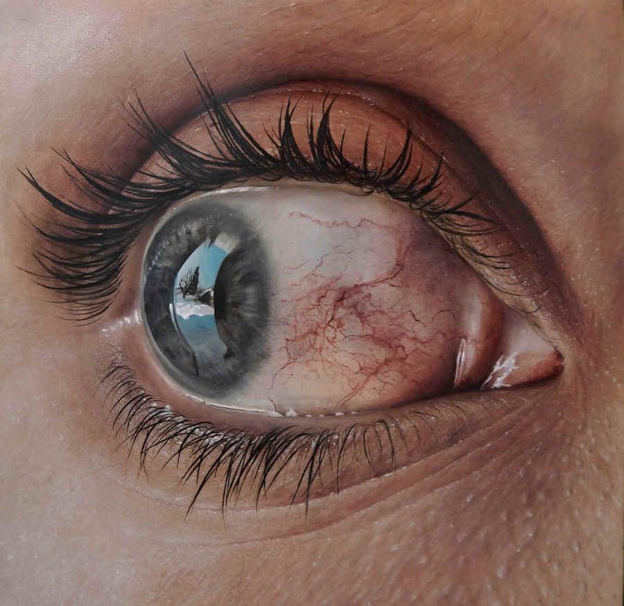 dibujo ojo hiperrealista