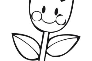 Dibujosfaciles Es Dibujos De Flores Fáciles De Colorear