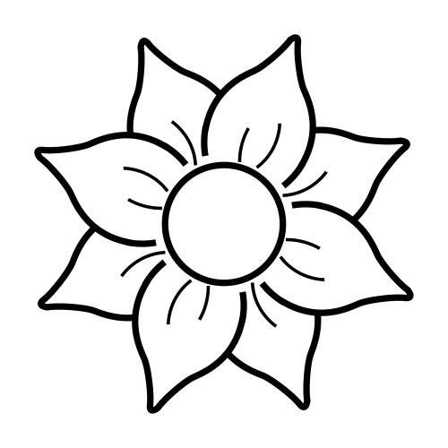 Dibujosfacileses Dibujos De Flores Fáciles De Colorear
