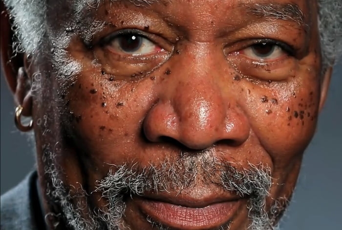 Morgan Freeman hiperrealista