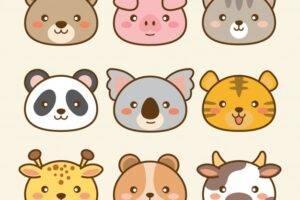 Panda Kawaii y otros animales