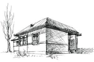 casa dibujo técnico