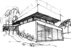 boceto arquitectura