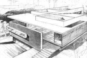 dibujos faciles casa perspectiva y arquitectura