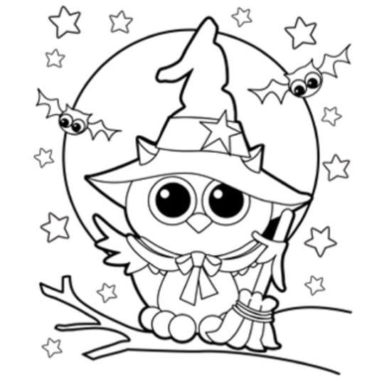 Dibujosfacileses Dibujos de Halloween para colorear