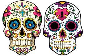 Calavera coloreada
