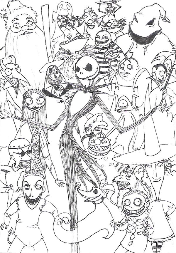 Dibujos de Pesadilla antes de navidad