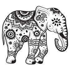 Mandala de elefante para colorear