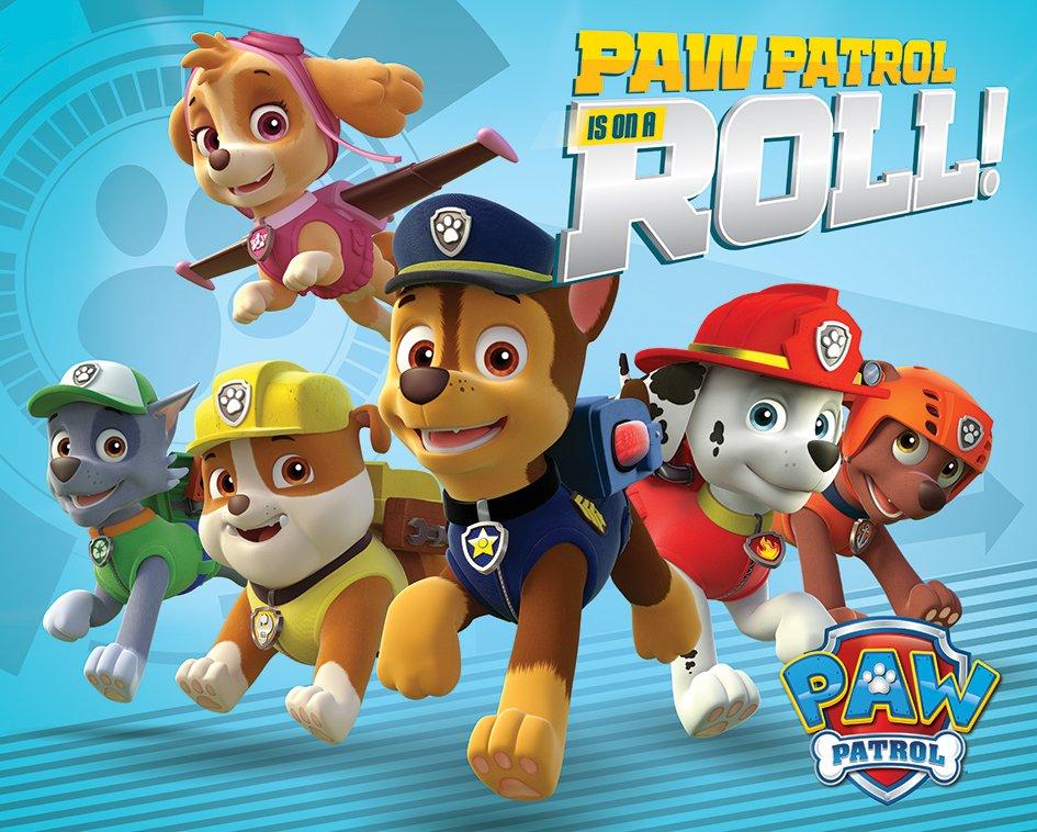 Paw patrol is on a roll