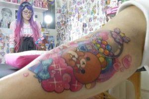 Tatuaje Oso Kawaii tierno