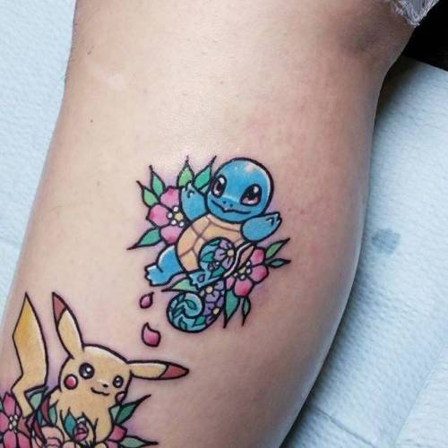 Squirtle Pokemon y Pikachu