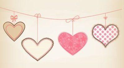 corazones tira