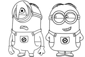 Como dibujar a los minions