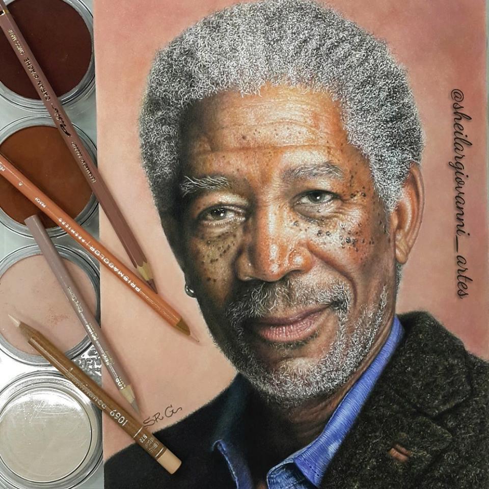 Morgan Freeman by Sheila R Giovanni