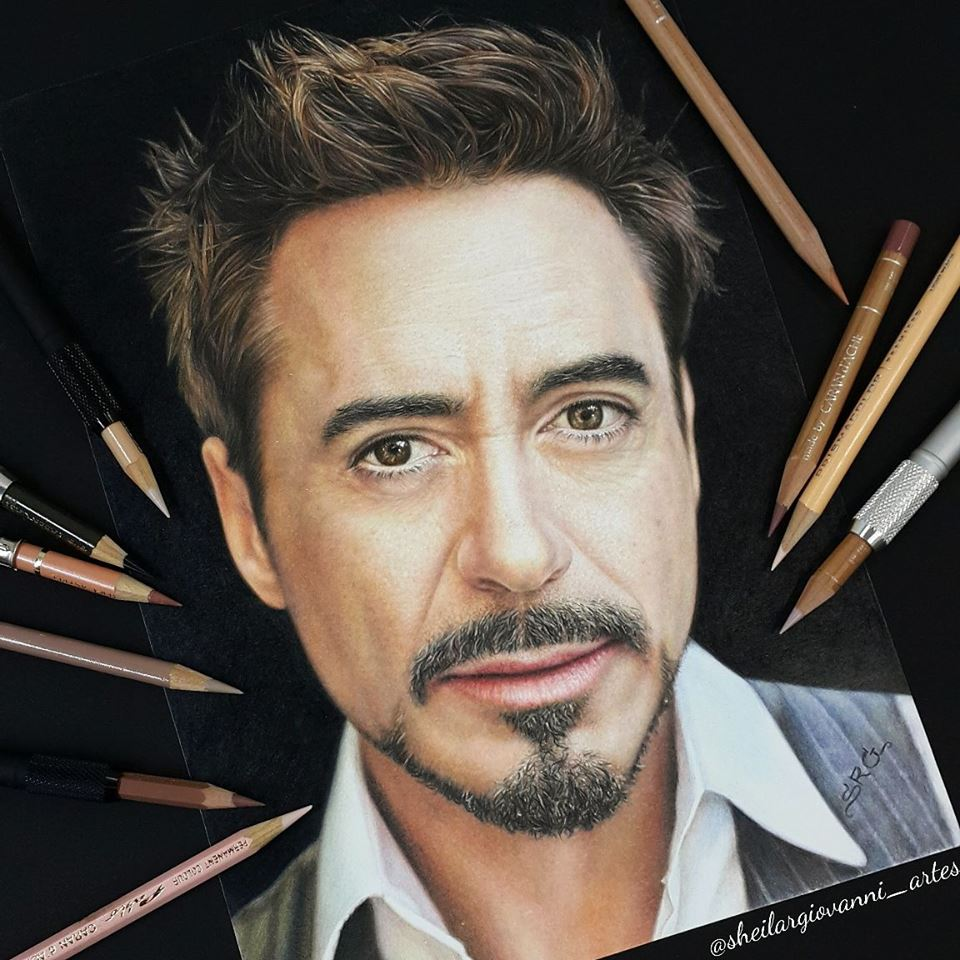 Robert Downey Jr by Sheila R Giovanni