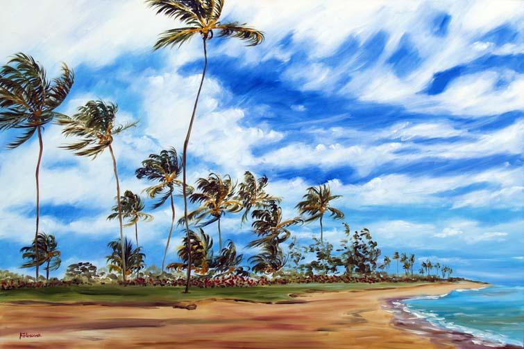 dibujo palmeras