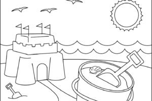 dibujos verano para colorear