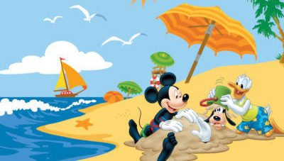dibujos faciles disney playa