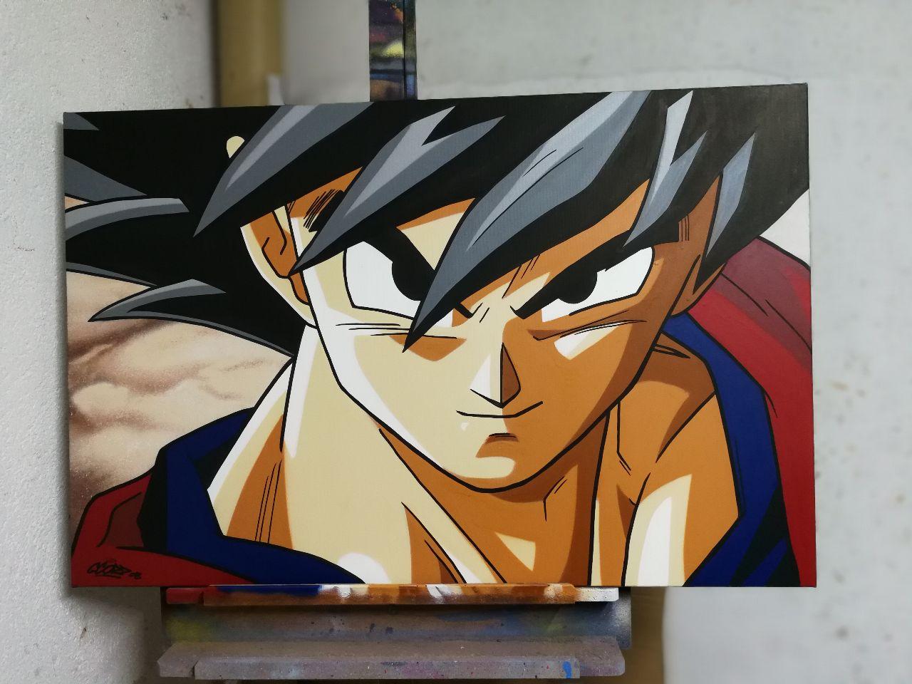 Goku adulto graffiti