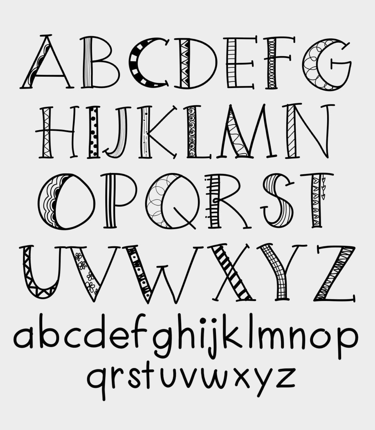 lettering dibujos faciles