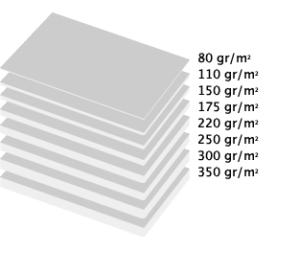 gramaje de papel